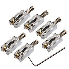 6 Roller Bridge Tremolo Saddles w/ Wrench for Fender Strat Tele Electric Guitar (Chrome): Size: x each brColor: ChromebrbrPackage * * Wrenchbrbr Fender Strat, Thing 1, Saddles, Musical Instruments, Musicals, Bridge, Chrome, Electric, Rollers