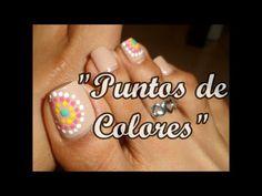"""Decoración """"Puntos de colores """"para las uñas  de los pies/Easy dotting d..."""
