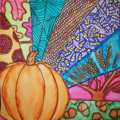 """Margaret Storer-Roche Here is another attempt at using my Pinterest ideas...the above sample inspired a fun fall sharpie and """"wat..."""