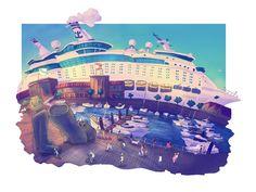 https://flic.kr/p/zpjowC | Explorer of the Seas | Sketch done in Vigo Color done in photoshop Carlos Castro ©2015