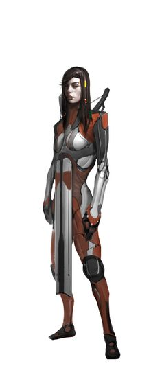 Female human character. Art by Milan Nikolic. Find the game at: burning-games.com