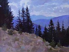 """Saatchi Art Artist Anastasia Yaroshevich; Painting, """"On the mountain"""" #art"""