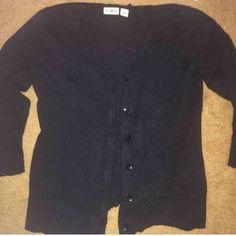 Black cardigan Black 3/4 length sleeve cardigan. Worn once. CHEEPER ON MERCARI Cato Sweaters Cardigans