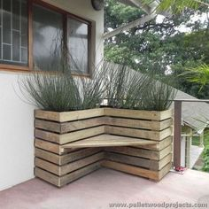 Hochbeet mit Sitzplatz (How To Build A Shed Out Of Pallets)
