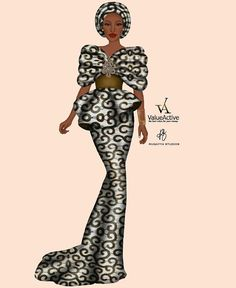African Clothes, African Dresses For Women, African Wear, Croquis Fashion, Fashion Sketches, Abaya Fashion, Fashion Dresses, Fashion Drawing Tutorial, Unique Ankara Styles