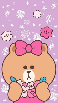 • 라인프렌즈 *CHOCO 배경화면/잠금화면 모음 : 네이버 블로그 Cute Disney Wallpaper, Kawaii Wallpaper, Cute Cartoon Wallpapers, Lines Wallpaper, Bear Wallpaper, Hello Kitty Backgrounds, Whatsapp Wallpaper, Cartoon Profile Pics, Friends Wallpaper