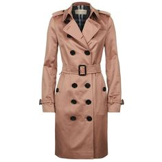 Burberry Sandringham Long Heritage Trench Coat ($1,630) ❤ liked on Polyvore featuring outerwear, coats, military trench coat, long trench coat, slim trench coat, long beige coat and beige trench coat