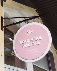 Porcmeilleur on Behance Store Signage, Retail Signage, Signage Board, Blade Sign, Food Cart Design, Neon Box, Cafe Concept, Sign Board Design, Office Signs