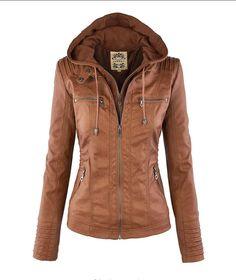 $50 Removable Collar Zipper Womens Jacket Hoodie