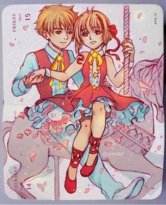 Qinni Beautiful Drawings, Cute Drawings, Qinni, Syaoran, Cardcaptor Sakura, Notebook Art, Art Calendar, Sketch Inspiration, Manga