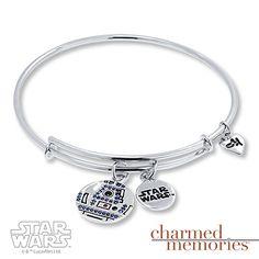 Charmed Memories Bangle Star Wars R2-D2 Sterling Silver