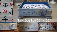 "DIY Nautical Inspired ""Salty Dog Bed"" made from an old drawer !"