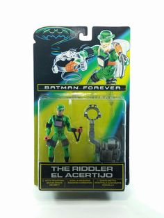 Batman Forever - MOC - The Riddler Trapping Brain-drain Helmet Action Figure - Original - Carded Kenner This Riddler Action Figure is in great