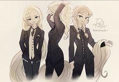 Rapunzel, Elsa & Anna  by Soung