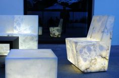 Outdoor Alabaster Furnishings That Glow From Within.