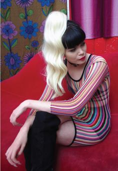 Razzle Dazzle Rainbow Mesh Dress