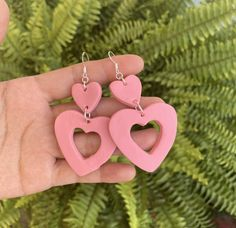 Polymer Clay Crafts, Diy Earrings, Slow Fashion, Makeup Inspiration, Diy Jewelry, Washer Necklace, Piercing, Craft Projects, Dangles
