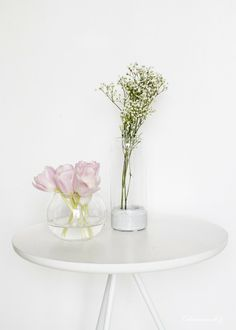 beautiful flowers white interior home decor nordic