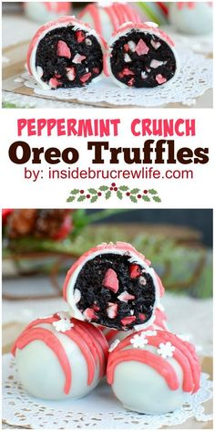 Oreo truffles with Andes peppermint crunch pieces are the perfect holiday treat!