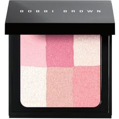 Bobbi Brown Brightening Brick - Pastel Pink  - Pink ($48) ❤ liked on Polyvore featuring beauty products, makeup, cheek makeup, blush, pink, blending brush, bobbi brown cosmetics and blender brush