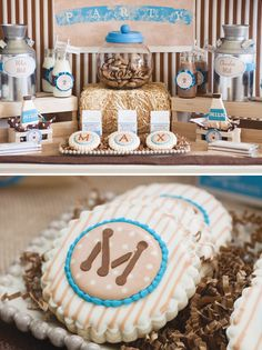milk and cookie party. Great for a kids birthday or a baby shower!