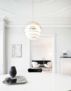Danish Interiors, Dining Room, Annett Dupont And Peter Kristiansens Apartment Photography By Lars Kaslov. Scandinavian style.
