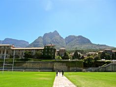 "The University of Cape Town, Cape Town South Africa. Ranked the most beautiful college campus in the world by Britian's ""Telegraph"" magazine, University Of Cape Town, Cape Town South Africa, Table Mountain, College Campus, Personal Photo, Golf Courses, To Go, Magazine, Mansions"