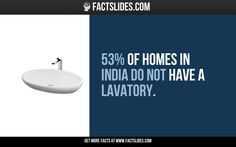 53% of homes in India do not have a lavatory.