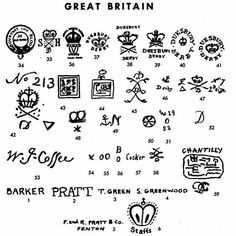 Pottery Maker's Marks - Great Britain -