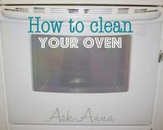 Cleaning oven glass - Mix baking soda with water to form a thin paste, then spread on glass.  Wait 15 minutes, then wipe.  If spots remain, use Arm & Hammer toothpaste and a toothbrush to scrub