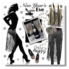 """""""NYE Dance Party"""" by meyli-meyli ❤ liked on Polyvore featuring Creative Co-op, Valentino, Zhenzi, Yves Saint Laurent, Lulu Frost and nyestyle"""
