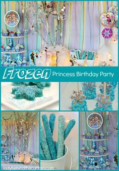 This Frozen Princess Birthday Party is full of fun and easy ideas. Perfect for my 3 and 5 year old Granddaughters! THE FROZEN MANIA CONTINUES! This is s