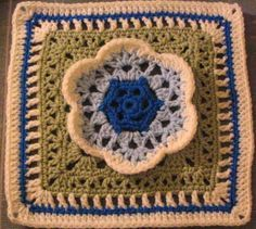 Chris Simon's Kaleidoscope Blossom pattern - 12 inch crochet square