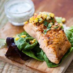 Tandoori Salmon & Corn Relish by goboldwithbutter #Salmon #Tandoori #goboldwithbutter