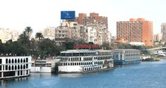 One floating restaurants on the Nile River
