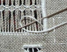 Tutorial: Coral Knot in Drawn Thread Embroidery – Needle'nThread.com