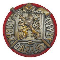 Stráž obrany státu. Eastern Europe, Badges, Statues, Decorative Plates, Decorations, History, Art, Bohemia, Art Background
