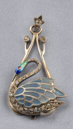 Art Nouveau Plique-a-jour Enamel and Freshwater Pearl Pendant