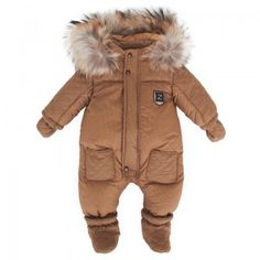 Fendi Boys Brown Zucca Snowsuit | AlexandAlexa