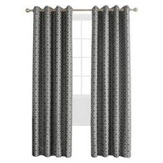 Sun Zero Hartwell Woven Geometric Room Darkening Curtain Panel