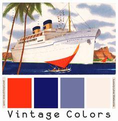 ༺༺༺♥Elles♥Heart♥Loves♥༺༺༺ ............♥Color Charts♥............ #Color #Chart #ColorChart #Inspiration #Design #Moodboard #Paint #Palette #Decorate #Art #Renovate ~ ♥Ponyboy Press - zine maker, design lover, dedicated homebody: vintage color palettes