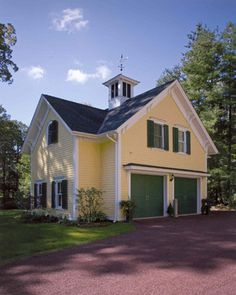 images about Garages  amp  Carriage Houses on Pinterest    Yellow carriage house