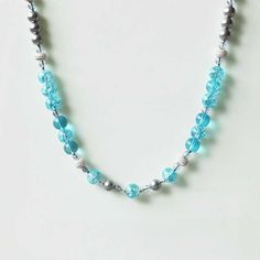 Aquamarine Clear Gray Necklace DC50N6033 $7.50
