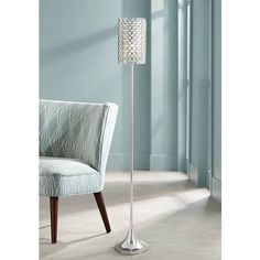 Possini Euro Glitz Crystal and Chrome Floor Lamp Bright Floor Lamp, Diy Floor Lamp, Arc Floor Lamps, Cool Floor Lamps, Contemporary Floor Lamps, Modern Floor Lamps, Modern Table, Light Wooden Floor, Torchiere Floor Lamp