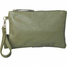 Clutch i grøn læder