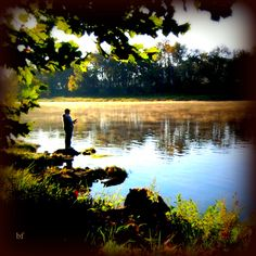 Trout fishing on the White River at Rainbow Drive Resort in Cotter Arkansas.