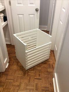 Farmhouse laundry bin