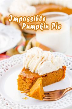 Pumpkin Cookie Recipe, Pumpkin Pie Recipes, Pumpkin Cookies, Cookie Recipes, Vegan Recipes, Impossible Pumpkin Pie, Dinner Ideas, Baking, Breakfast