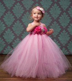 BUDGET FRIENDLY - Pink Bubble Gum Couture Flower Girl Tutu Dress