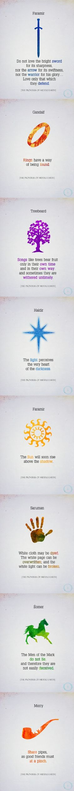 The Proverbs of Middle-earth, from Oloris Publishing - I love every single thing about these.